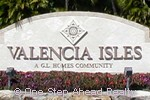 Valencia Isles community sign